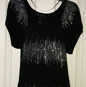 Sparkly short sleeve blouse